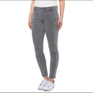 PrAna Merrigan Corduroy Gray Skinny Pants